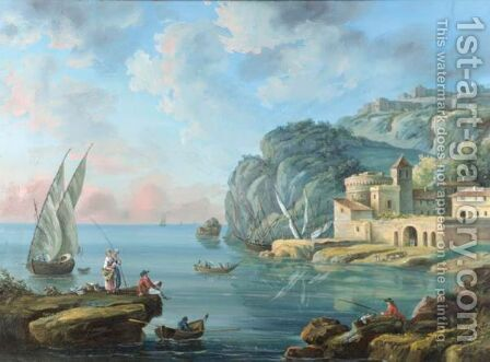 Paysage Maritime by Claude-joseph Vernet - Reproduction Oil Painting