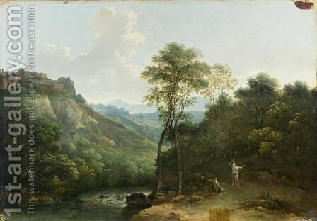 Paysage Italien by (after) Jean-Joseph-Xavier Bidauld - Reproduction Oil Painting