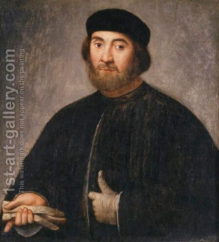 Portrait Of A Councillor by (after) Lorenzo Lotto - Reproduction Oil Painting