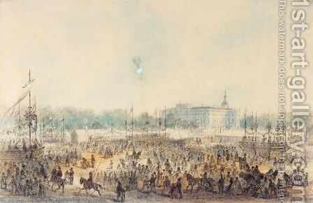 Celebrations On The Marsovoye Pol'Ye, St. Petersburg, 8th September 1859 by Iosef Iosefovich Charlemagne - Reproduction Oil Painting