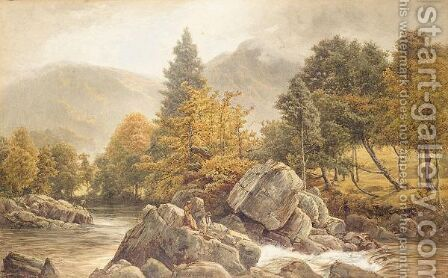 From The Leddr Bridge, Bettys-Y-Coed by James Whaite - Reproduction Oil Painting
