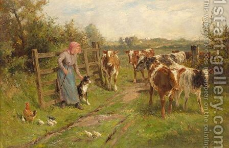 Changing Pastures by Claude Cardon - Reproduction Oil Painting