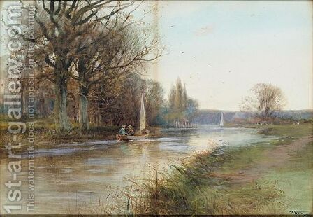Near Marlow On The Thames by Henry Charles Fox - Reproduction Oil Painting