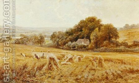 A Berkshire Cornfield by (after) John Horace Hooper - Reproduction Oil Painting