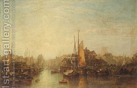 View Of Rotterdam by Alfred Montague - Reproduction Oil Painting