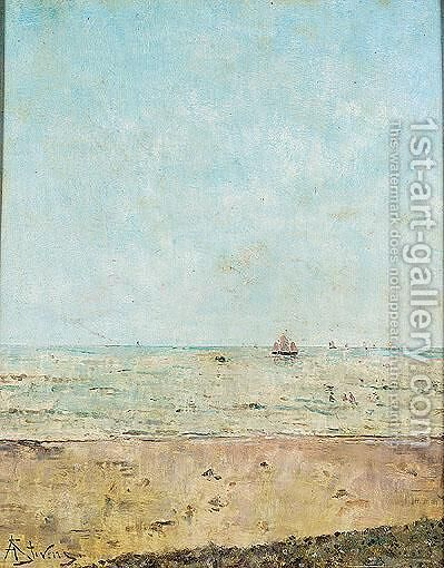 Seascape by Alfred Stevens - Reproduction Oil Painting