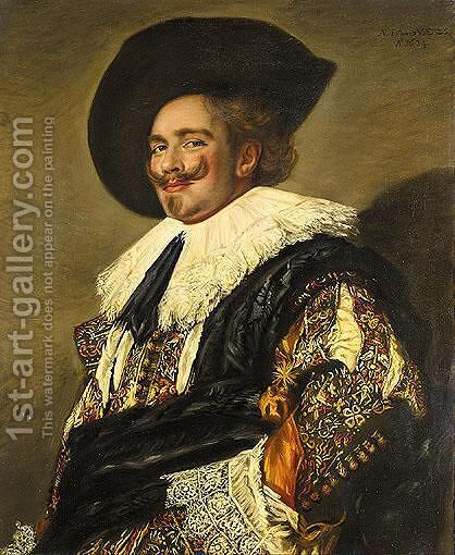 The Laughing Cavalier by (after) Frans Hals - Reproduction Oil Painting