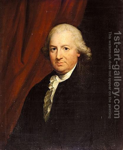 Portrait Of James Hamilton Of Sheephill (D.1800) by (after) Gilbert Stuart - Reproduction Oil Painting