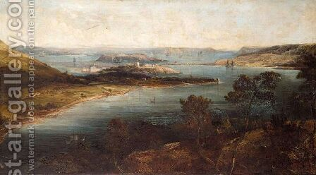 View Of Cork Harbour by (after) George Mouncey Wheatley Atkinson - Reproduction Oil Painting