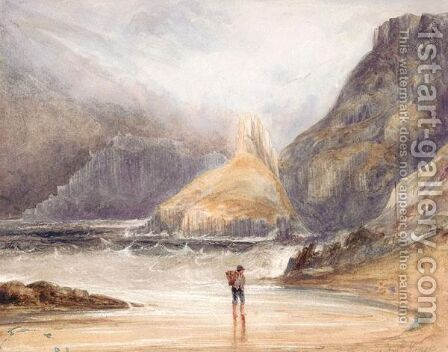 The Giant's Causeway, Co.Antrim by Andrew Nicholl - Reproduction Oil Painting