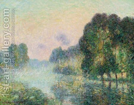 Brouillard Sur L'Eure by Gustave Loiseau - Reproduction Oil Painting