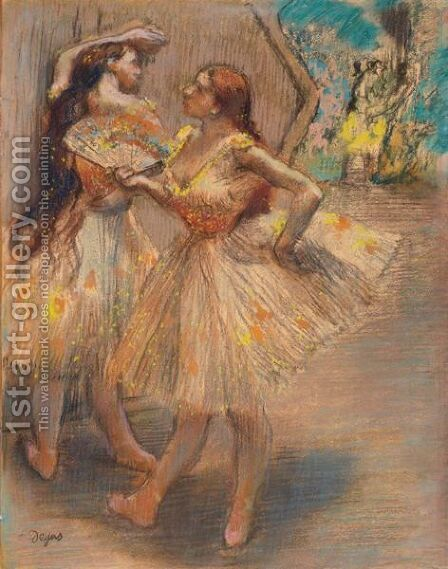 Danseuses Pres D'Un Portant by Edgar Degas - Reproduction Oil Painting