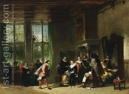 Elegant Figures In An Interior 2 by Herman Frederik Carel ten Kate - Reproduction Oil Painting