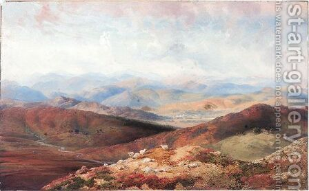 Choill Hills Looking On Balmoral by Carlo Bossoli - Reproduction Oil Painting