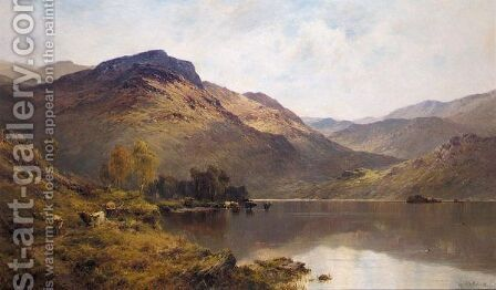 The Banks Of The Luss by Alfred de Breanski - Reproduction Oil Painting