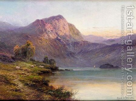 Bealach-Nam-Bo, Loch Katrine by Alfred de Breanski - Reproduction Oil Painting