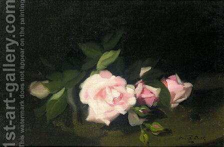 Pink Roses by James Stuart Park - Reproduction Oil Painting