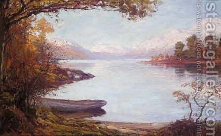 Sunlight On The Loch, Ben Lomond by Alexander Brownlie Docharty - Reproduction Oil Painting