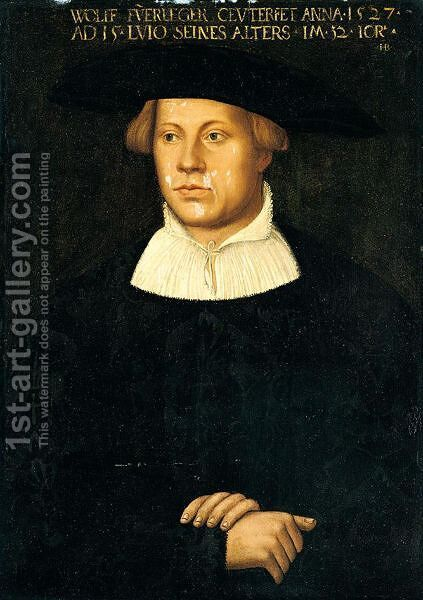 Portrait Of Wolff Fuerleger, Aged 32 by Hans Brosamer - Reproduction Oil Painting