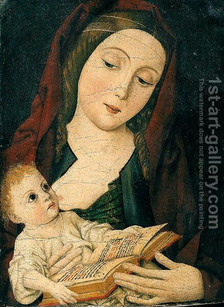 The Virgin And Child by (after) Ludovico Brea - Reproduction Oil Painting
