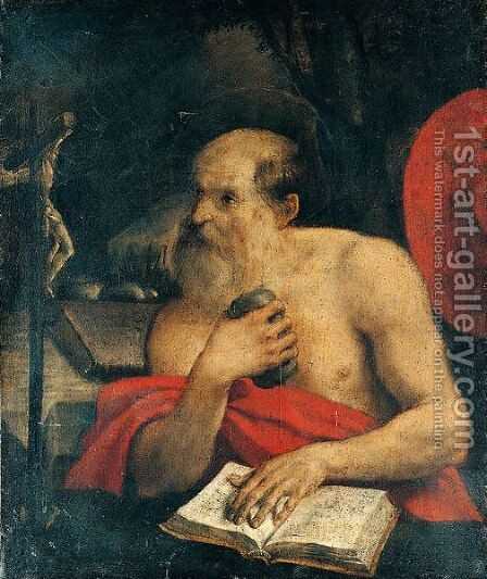Saint Jerome by Annibale Carracci - Reproduction Oil Painting
