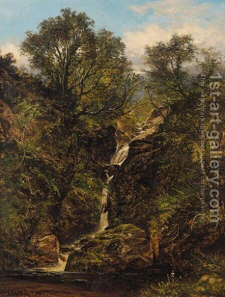 A Glen On Ben Voirlich by (after) Benjamin Williams Leader - Reproduction Oil Painting