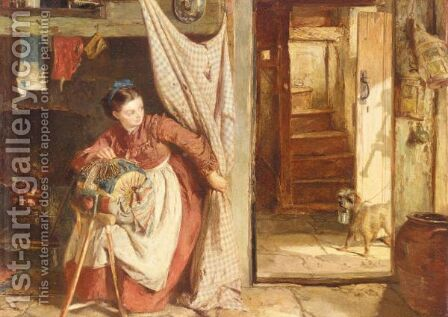The Lace Maker by James Lobley - Reproduction Oil Painting