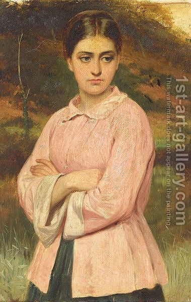 In Thought by (after) Charles Sillem Lidderdale - Reproduction Oil Painting