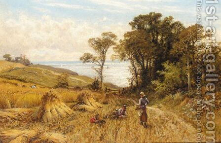 A Rest From The Harvest by Alfred Glendening - Reproduction Oil Painting