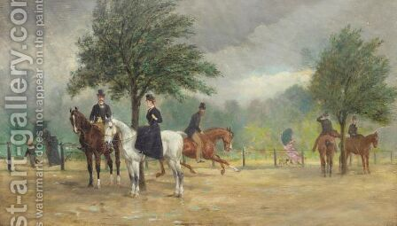 The Morning Ride by (after) Alfred F. De Prades - Reproduction Oil Painting