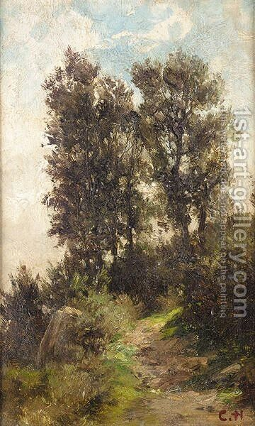 Landscape Study by (after) Carlos De Haes - Reproduction Oil Painting