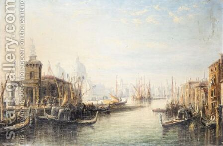 A View Of Venice by Anglo-Italian School - Reproduction Oil Painting