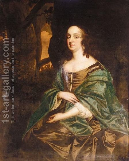 Portrait Of Judith Pelham, Lady Monson by (after) Sir Peter Lely - Reproduction Oil Painting