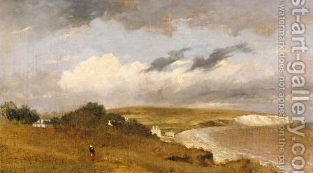 A Coastal Landscape by (after) Lionel Constable - Reproduction Oil Painting