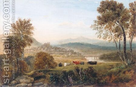 Hay On Wye by David Cox - Reproduction Oil Painting