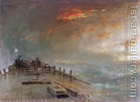 A Sail In Sight by Albert Goodwin - Reproduction Oil Painting