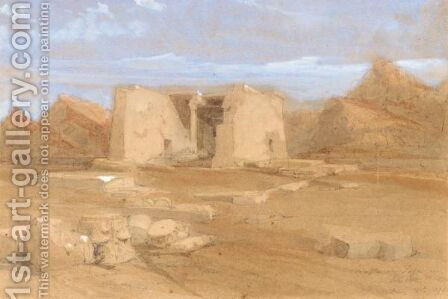 The Temple At Tafa In Nubia by David Roberts - Reproduction Oil Painting