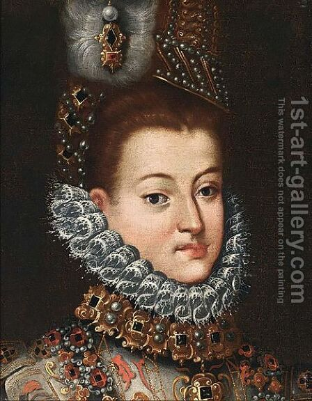 Portrait Of Isabella Clara Eugenia Of Austria by (after) Frans, The Elder Pourbus - Reproduction Oil Painting