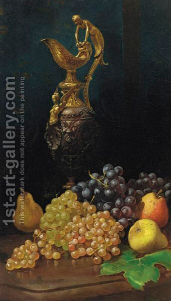 Still Life With Grapes by Harry Chase - Reproduction Oil Painting