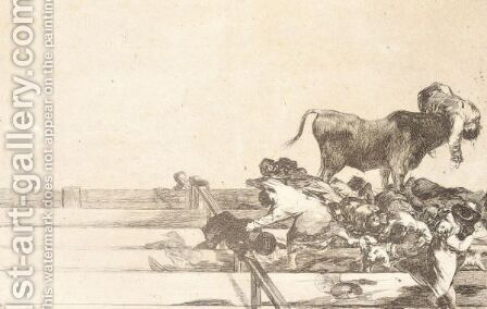 La Tauromaquia - Plate 21 by (after) Francisco De Goya Y Lucientes - Reproduction Oil Painting