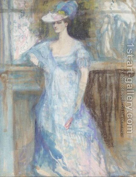 The Lady In Blue by Charles Edward Conder - Reproduction Oil Painting