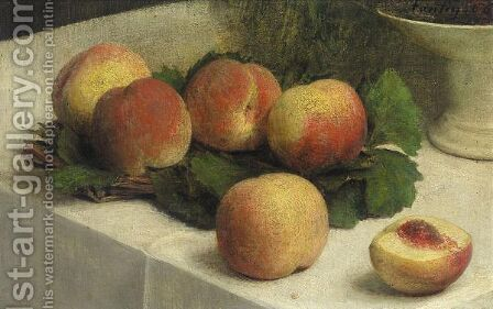 Peches by Ignace Henri Jean Fantin-Latour - Reproduction Oil Painting