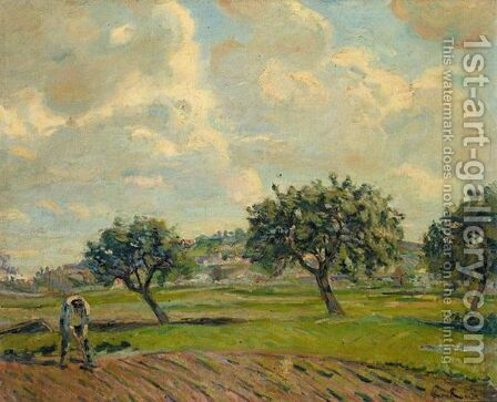 Paysage D'Ete A Damiette by Armand Guillaumin - Reproduction Oil Painting
