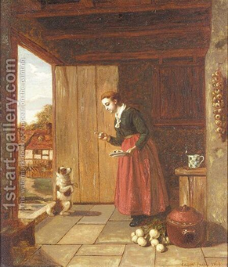 Beg sir by (after) Edwin Hughes - Reproduction Oil Painting