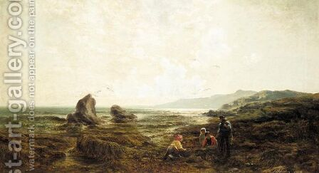 An afternoon by the sea by Henry James G. Holding - Reproduction Oil Painting