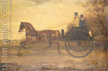 Horse drawn gig by (after) George Henry Laporte - Reproduction Oil Painting