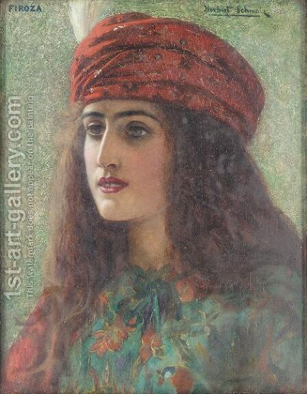 Firoza by Herbert Gustav Schmalz - Reproduction Oil Painting
