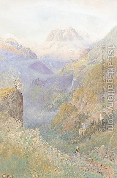 Mont Blanc from finhaut by Harry Goodwin - Reproduction Oil Painting