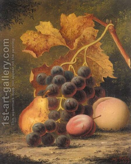 Still life of fruit by Henry George Todd - Reproduction Oil Painting