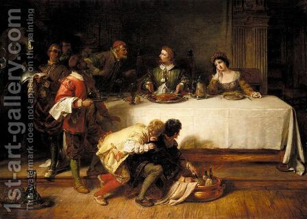 The banquet by Henry Courtney Selous - Reproduction Oil Painting